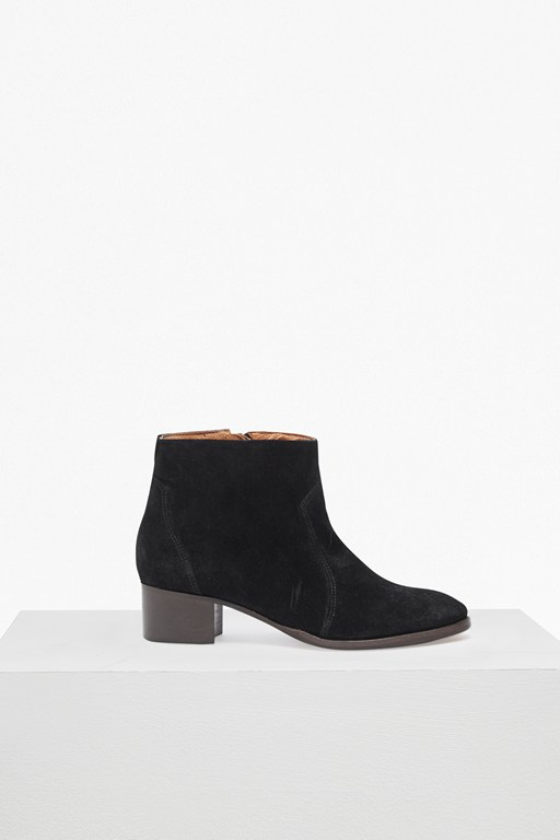 katy suede western ankle boots