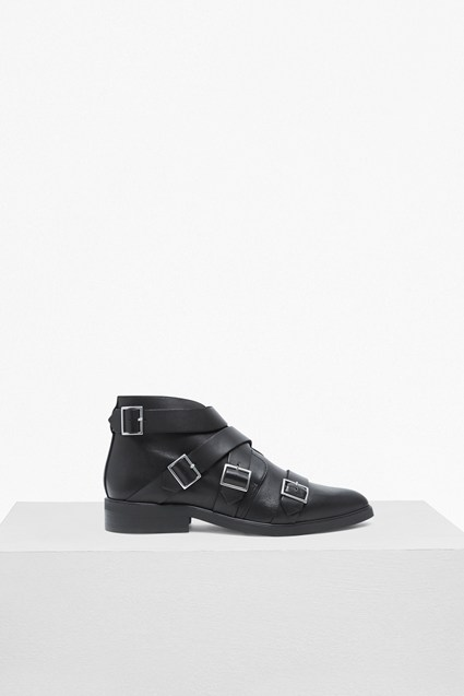 Alisa Multi Buckle Ankle Boots