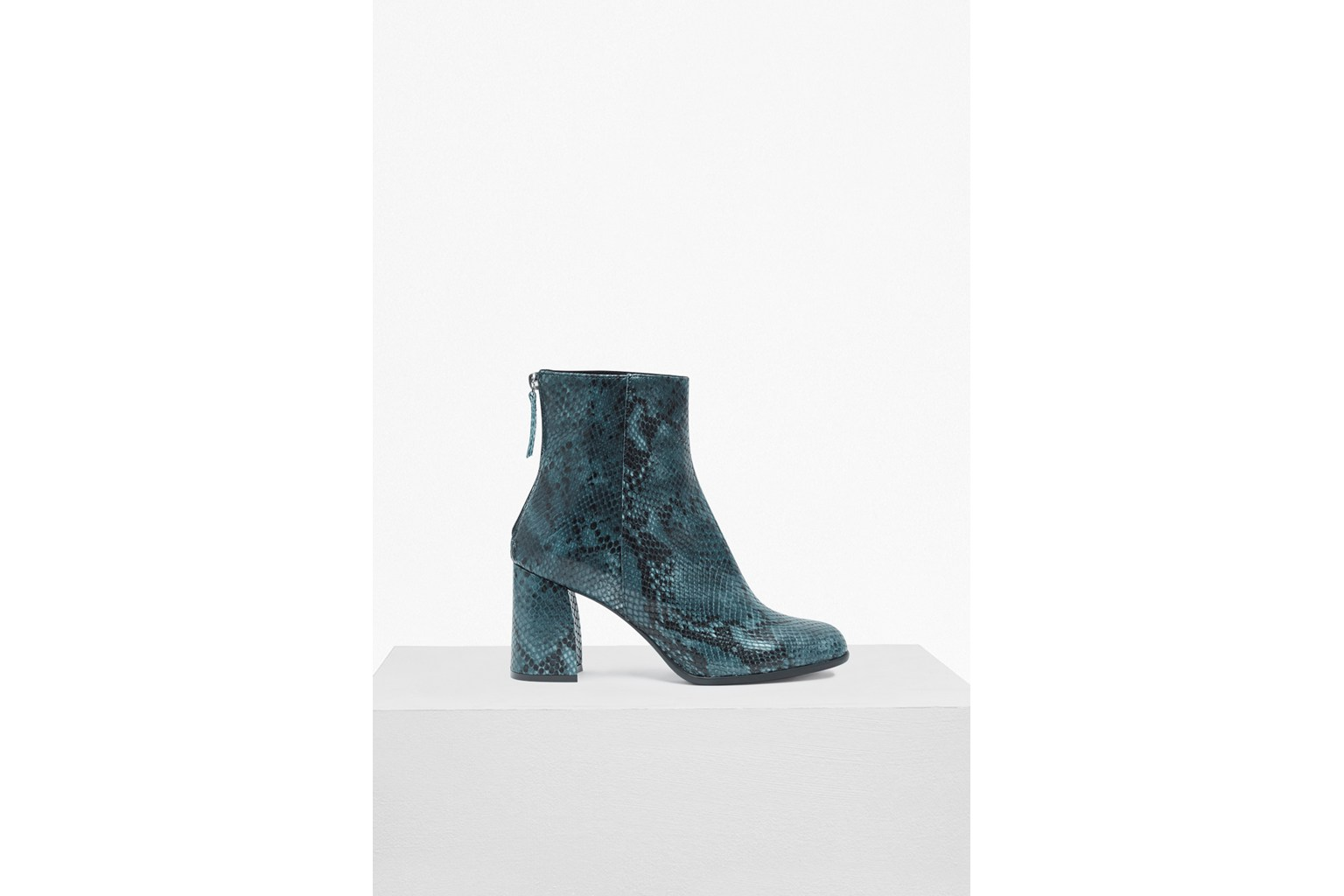 Saffi Snake Skin Leather Ankle Boots