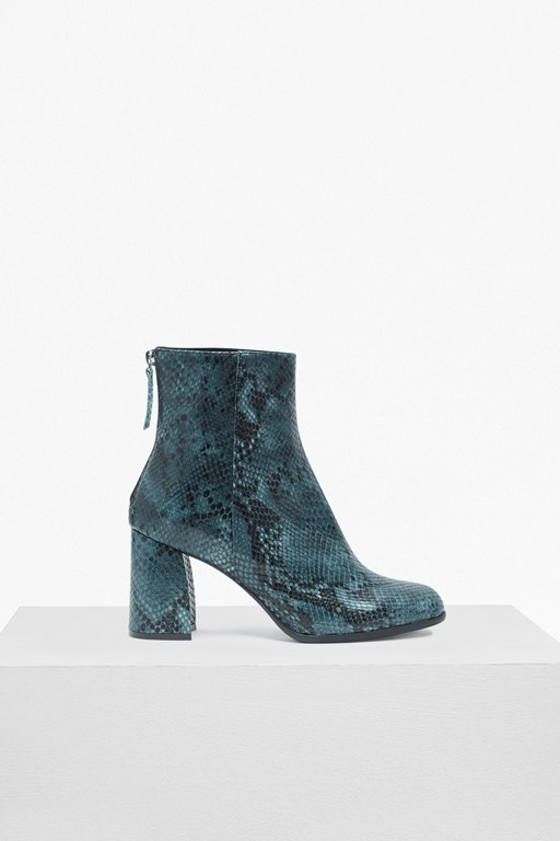 Complete the Look Saffi Snake Skin Leather Ankle Boots
