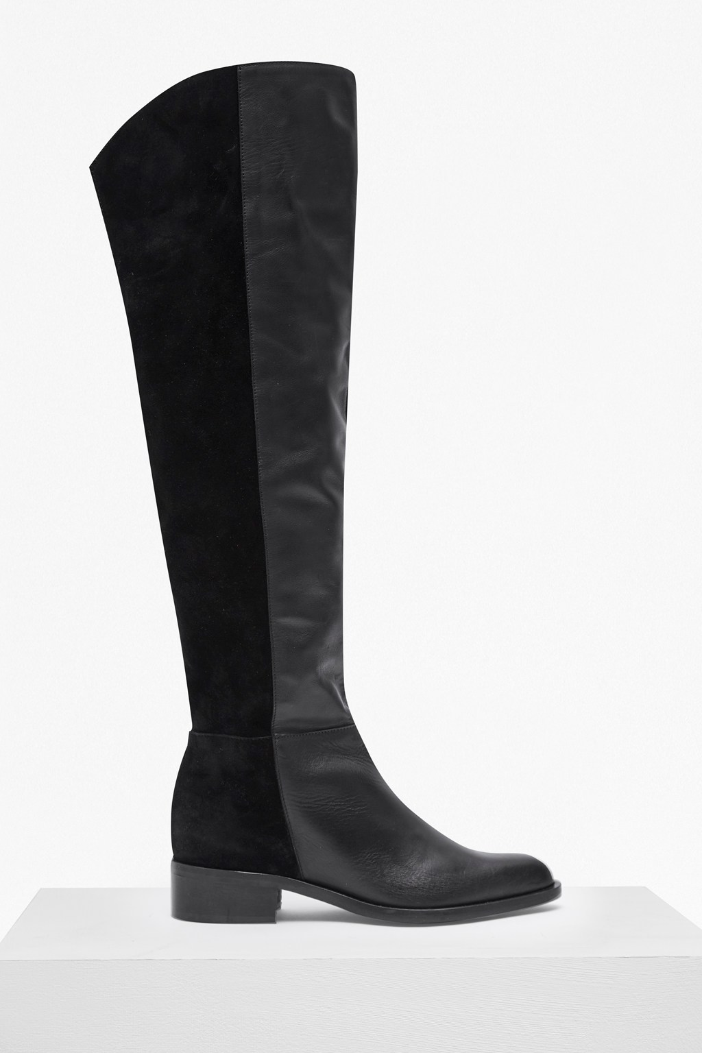 760a4a89d632 Tilly Knee High Flat Heel Leather Boots