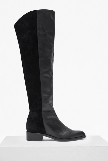 Tilly Knee High Flat Heel Leather Boots