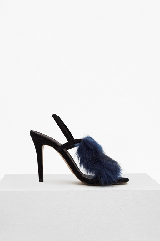Complete the Look Nina Fur Strappy Sandal