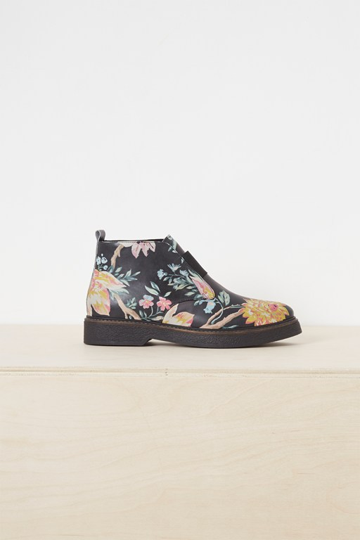 nasima chunky sole printed ankle boots