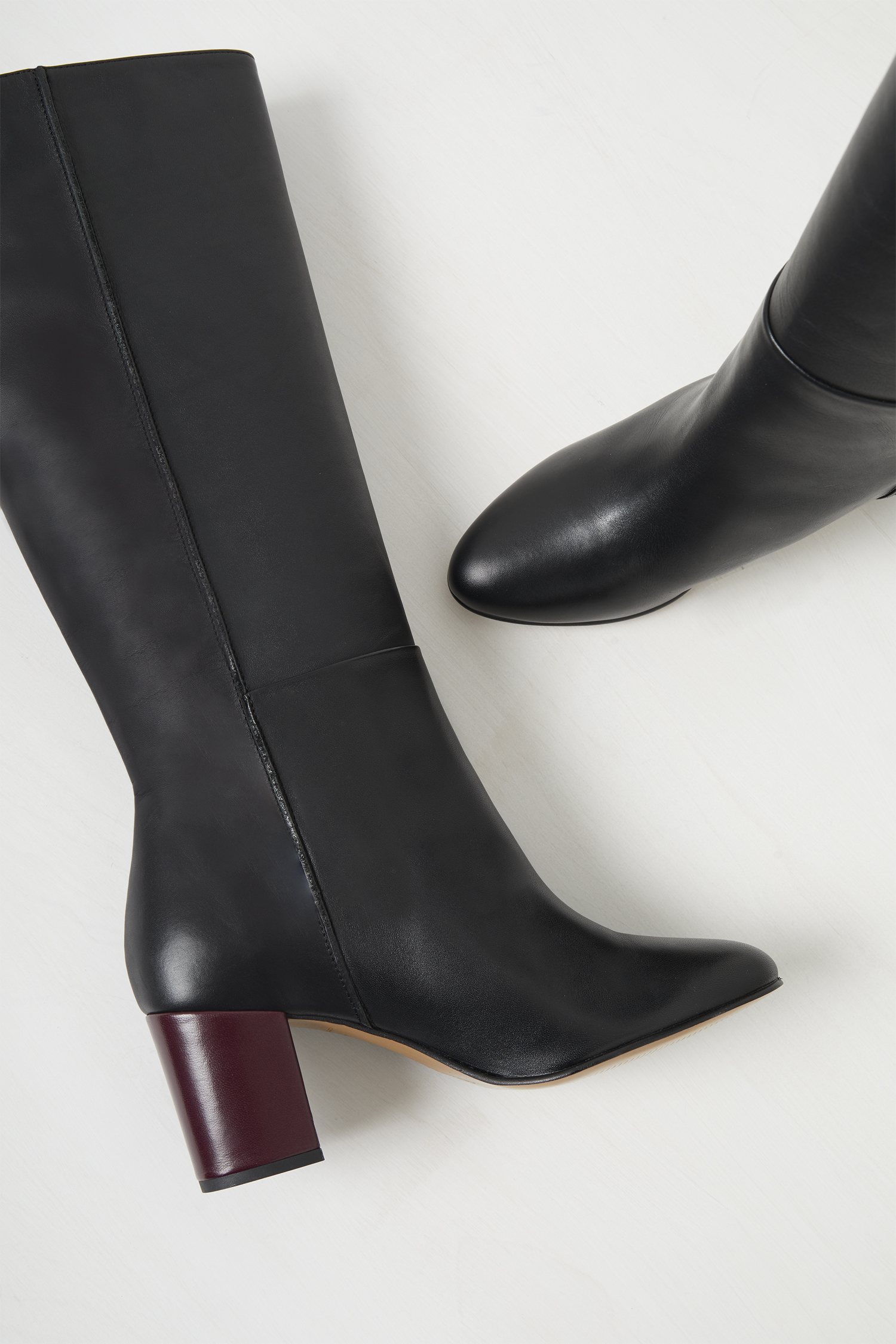 Renzo Leather Knee High Boots | Shoes