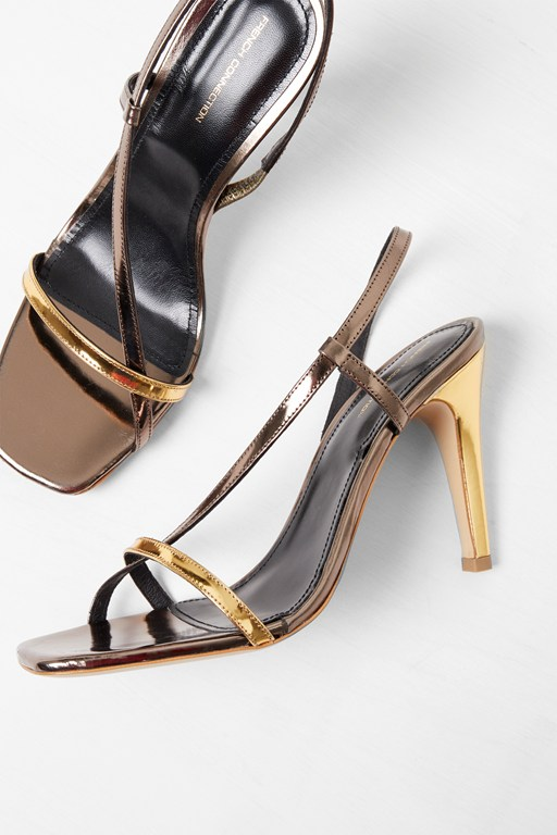 Complete the Look Veroni Metallic Wrap Sandals