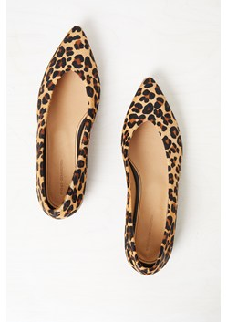 Naya Pointed Leopard Print Flats