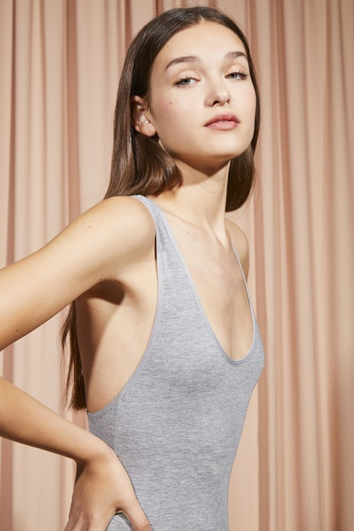 modal cross back bodysuit
