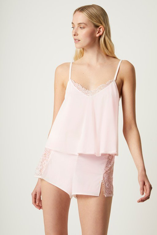 chiffon cami and short set