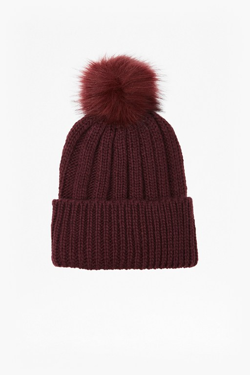 Complete the Look Pom Pom Beanie Hat