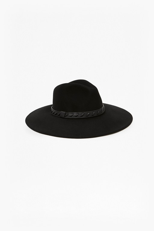 whipstitch trim fedora hat
