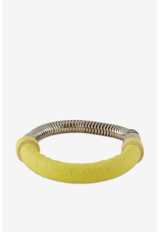 Wrapped Snake Chain Bangle