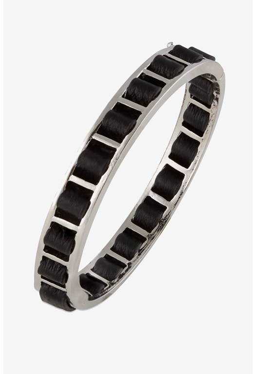 Woven Leather Bangle