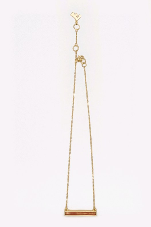 16.5 Inch Bar Pendant Necklace