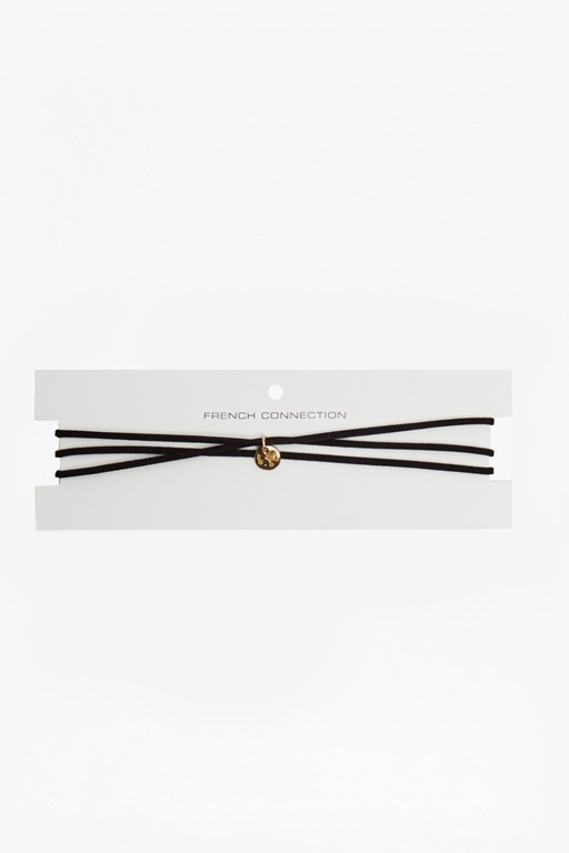 Complete the Look Skinny Suede Multi Wrap Choker With Ball