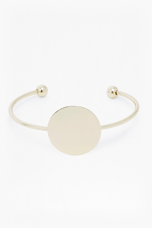 core brushed disk bangle