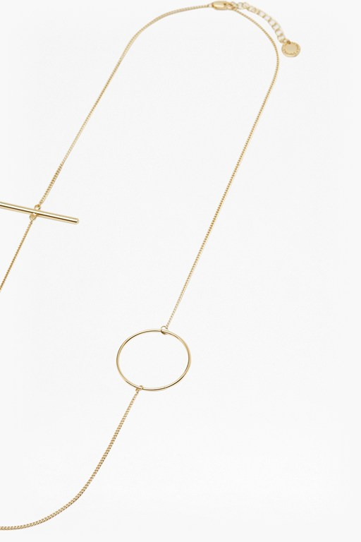 Complete the Look Circle & Bar Chain Necklace