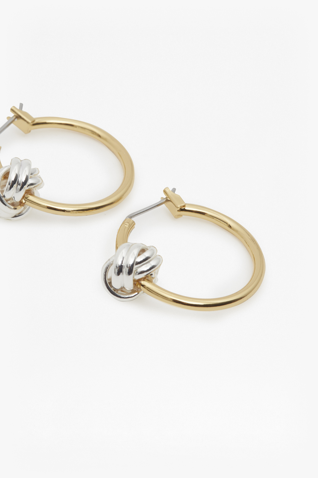 French Connection Hammered Flat Hoop Earrings iufxQ