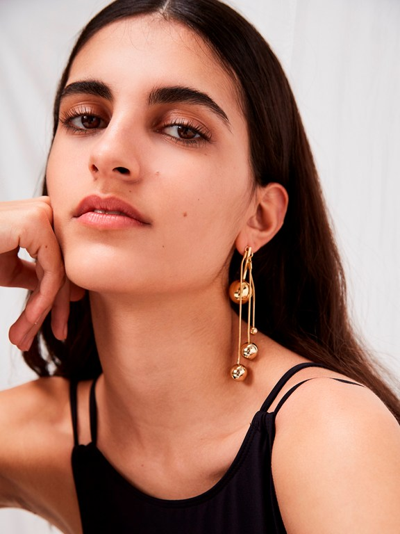 Complete the Look Drop Ball Earrings