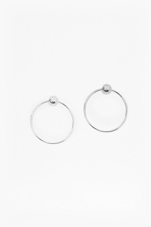 Complete the Look Ball Hoop Earrings