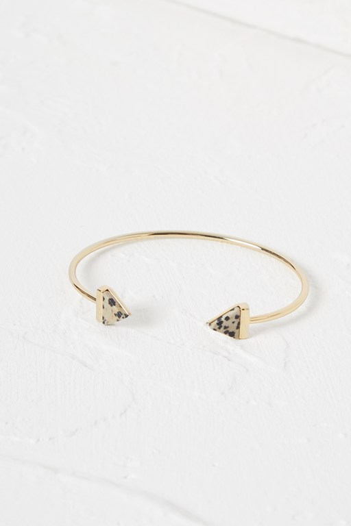 Complete the Look Semi Precious Resin Triangle Bracelet
