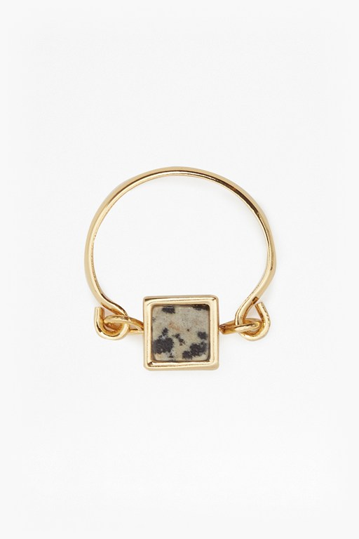 Complete the Look Semi Precious Square Ring