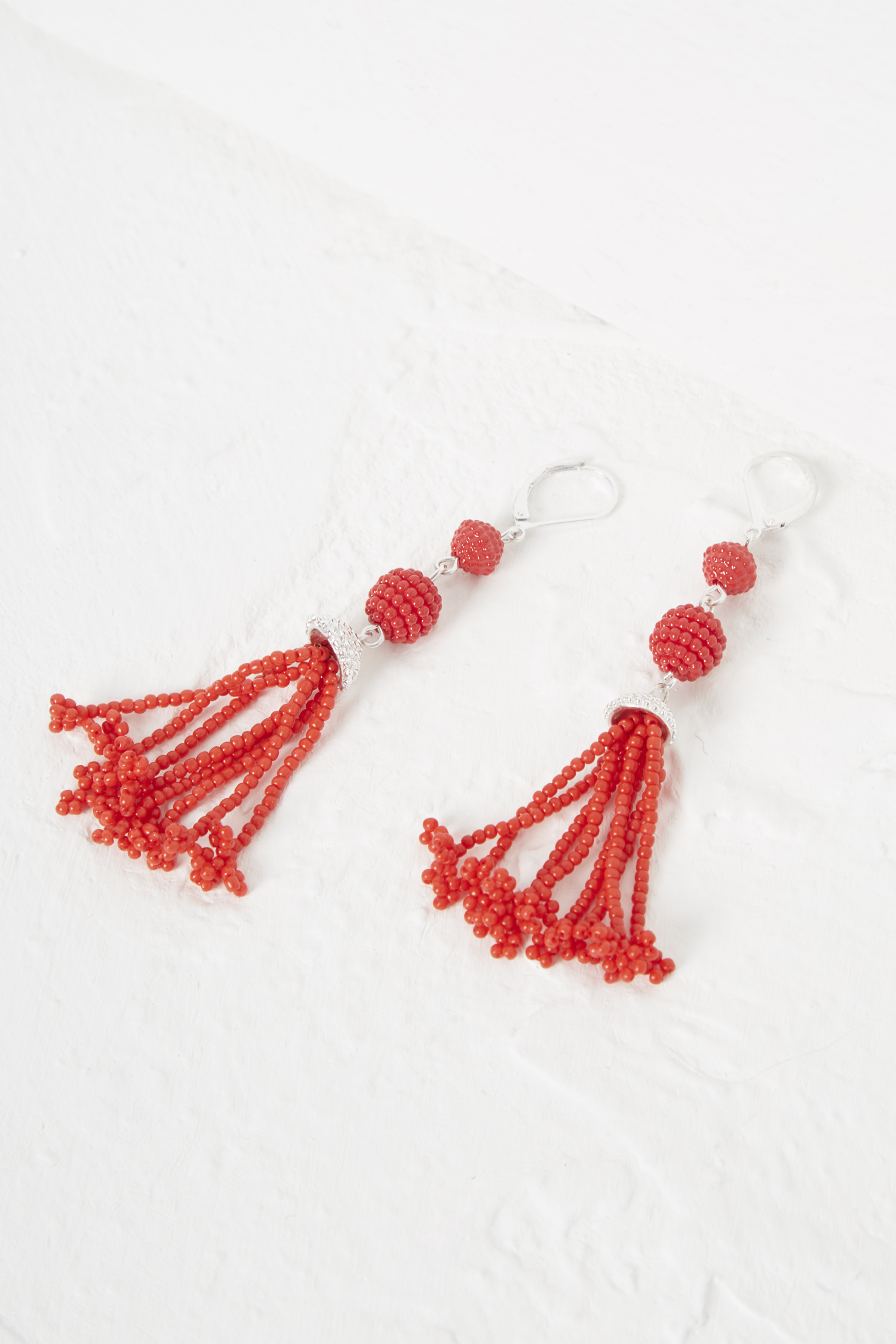 Geo Resin Bead Earrings Valentines Day Highlights French