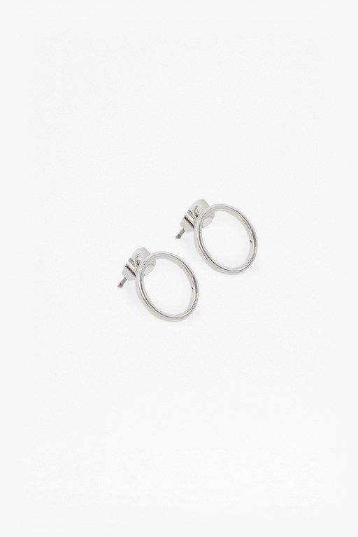 core circle & bar stud earring