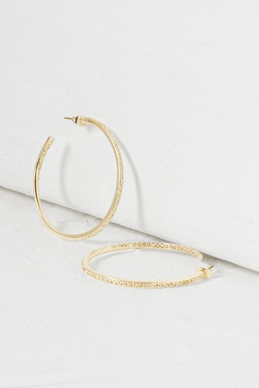 Complete the Look Crystal Hooped Earrings