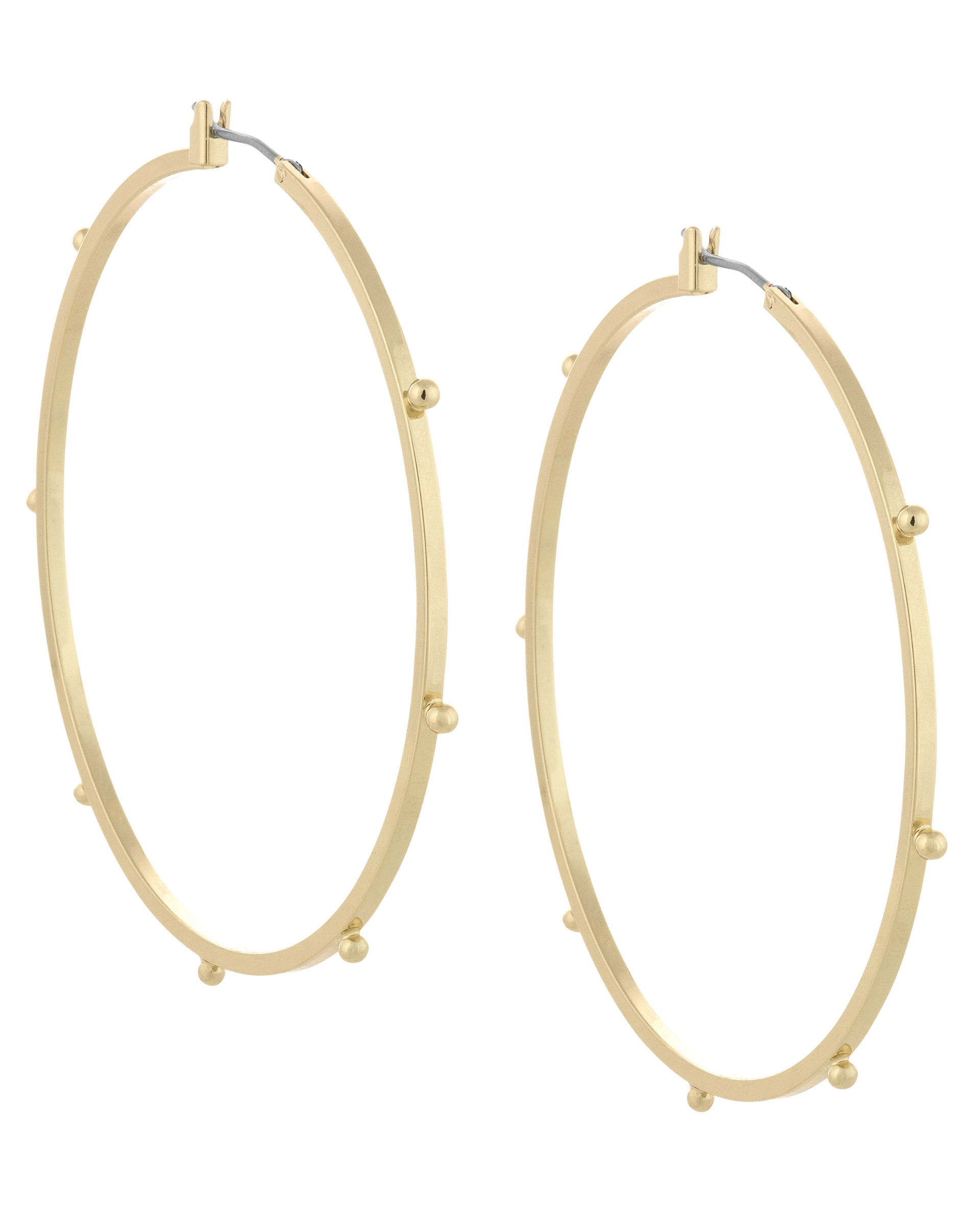 French Connection Large Dotted Hoops wOI7XG