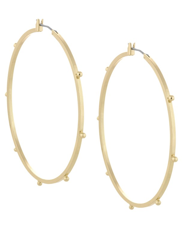 Complete the Look Large Dotted Hoops