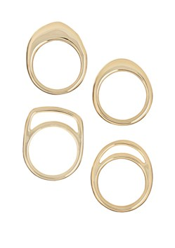 Natural Cut Ring Set