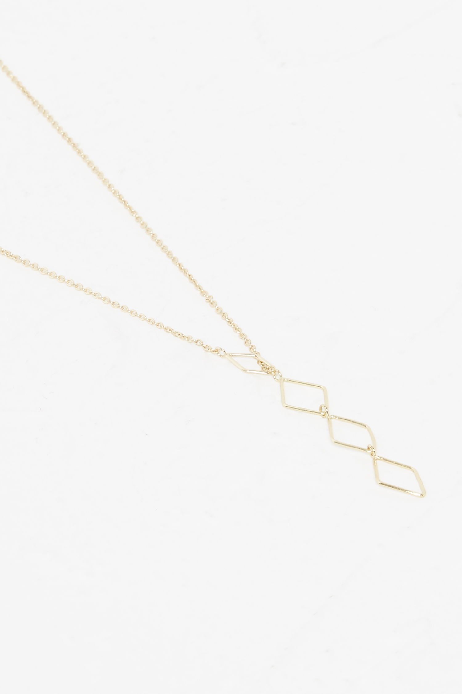 French Connection Geo Rhomboid Drop Necklace jcLJio