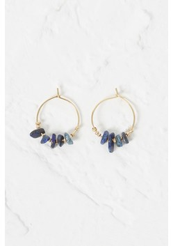 Beach Stone Hoop Earrings