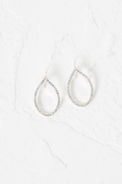 crystal tear drop earrings
