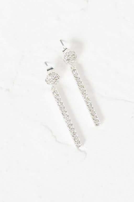 crystal stick drop earrings
