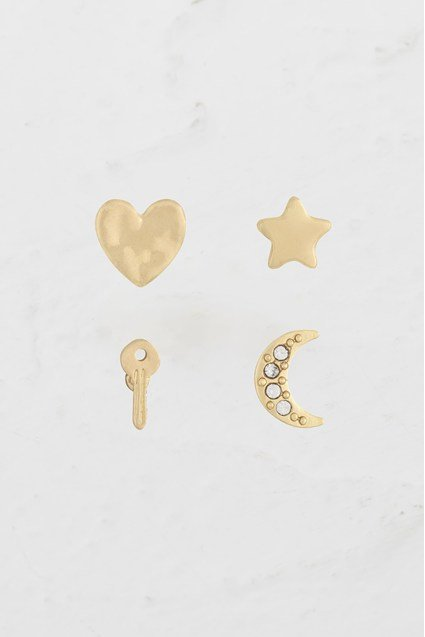 Charm Stud Earring Set
