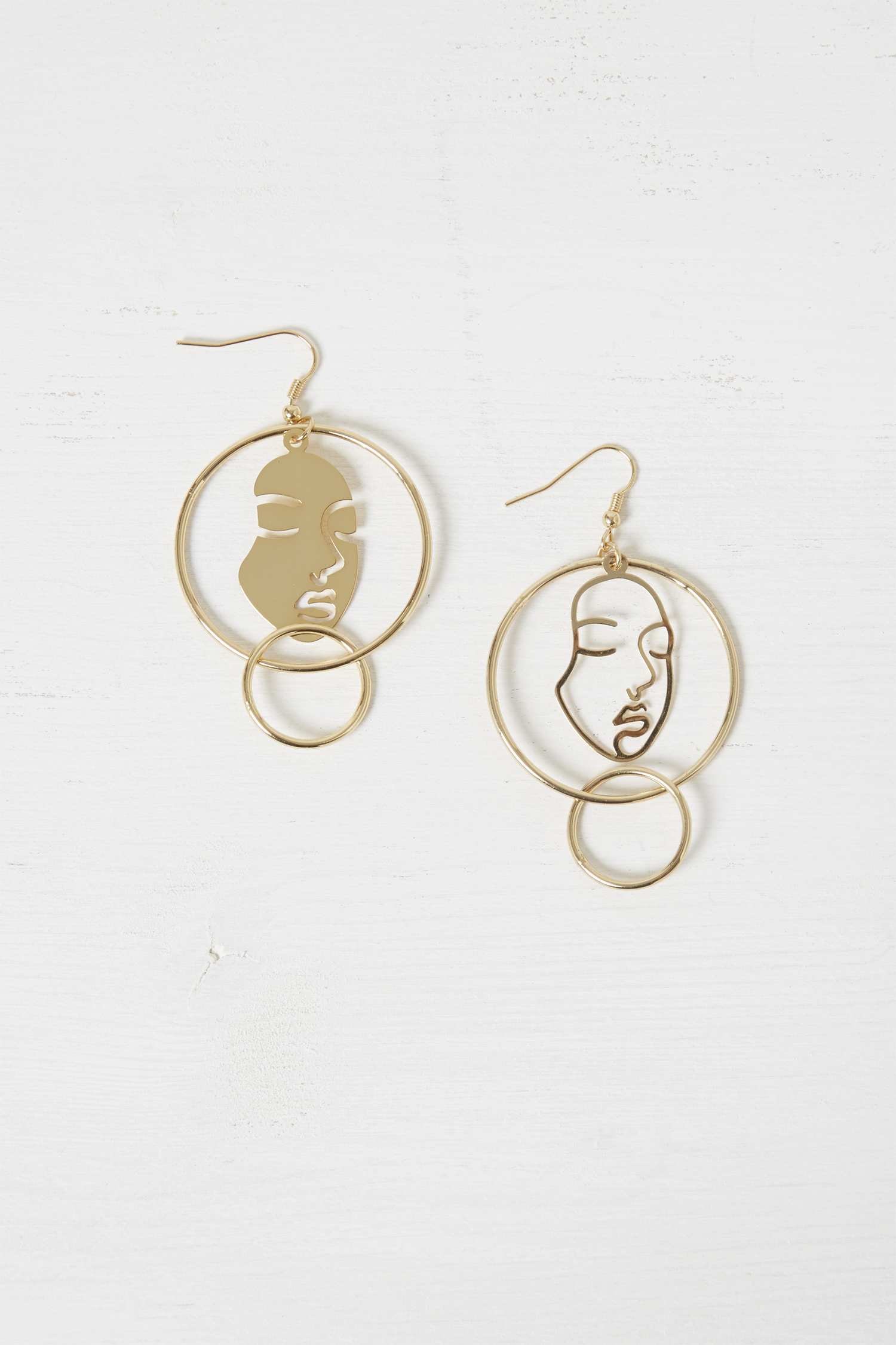 Mismatch Faces Earrings by French Connection