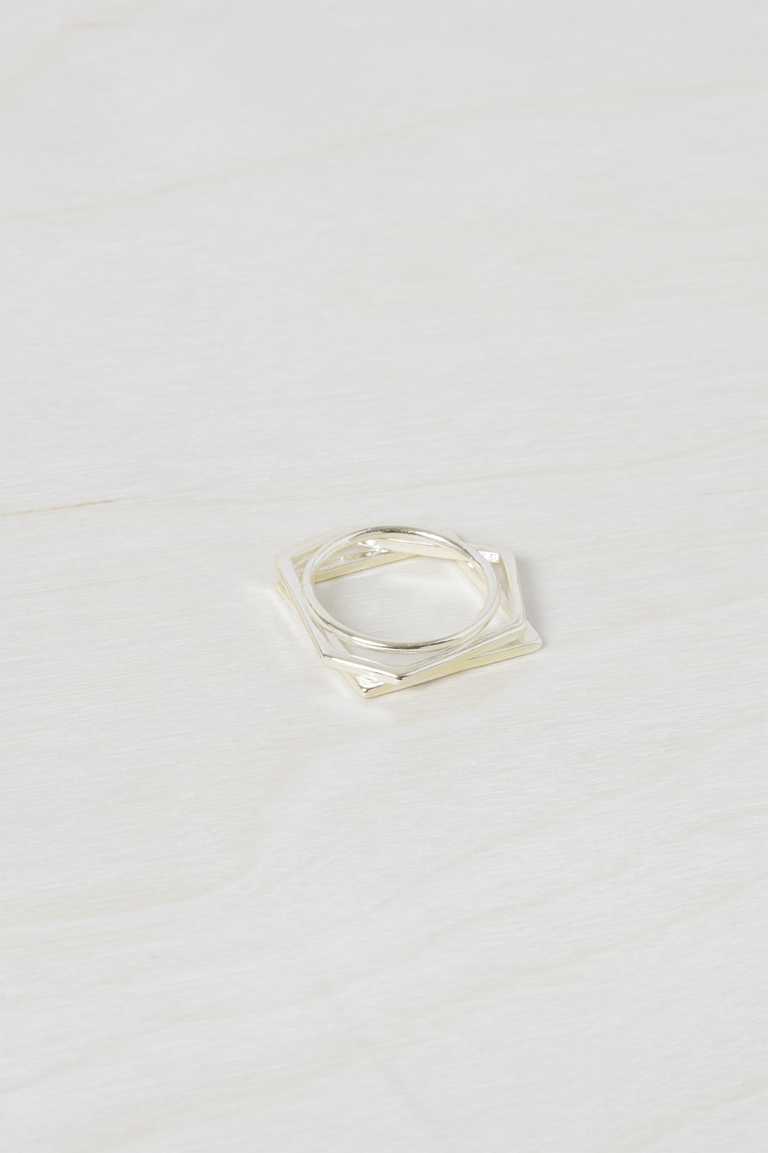 Chunky Geo Stacked Rings by French Connection