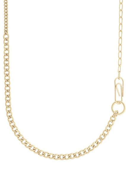 mixed chain long necklace