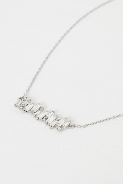 cluster bar necklace