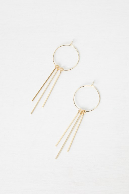 Complete the Look Hoop Drop Down Earrings