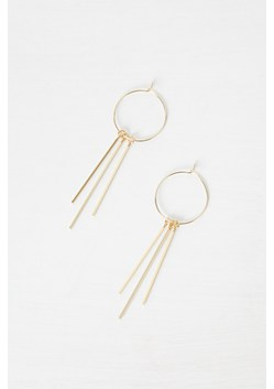 Hoop Drop Down Earrings