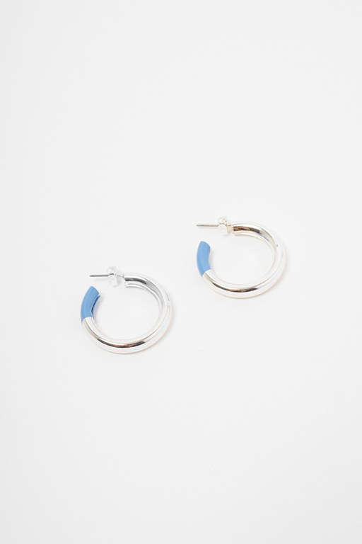 hoop enamel earrings