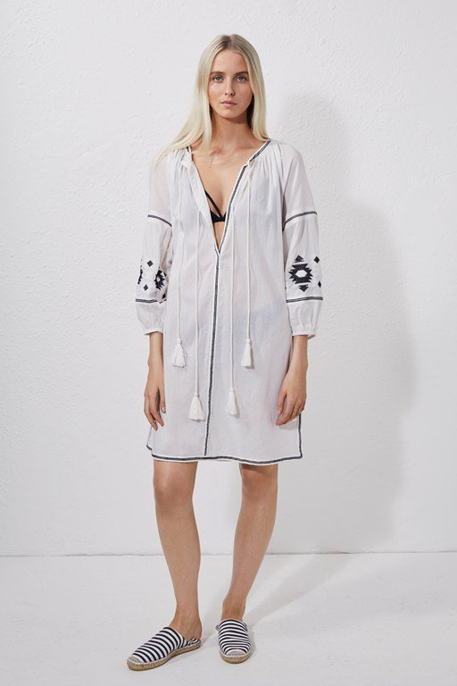 patmos embroidered beach dress