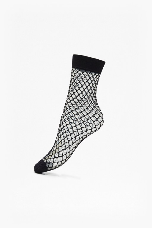 pack of 2 fishnet ankle socks
