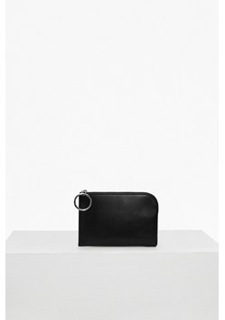 Oversized Buckle Solid Faux Leather Wallet