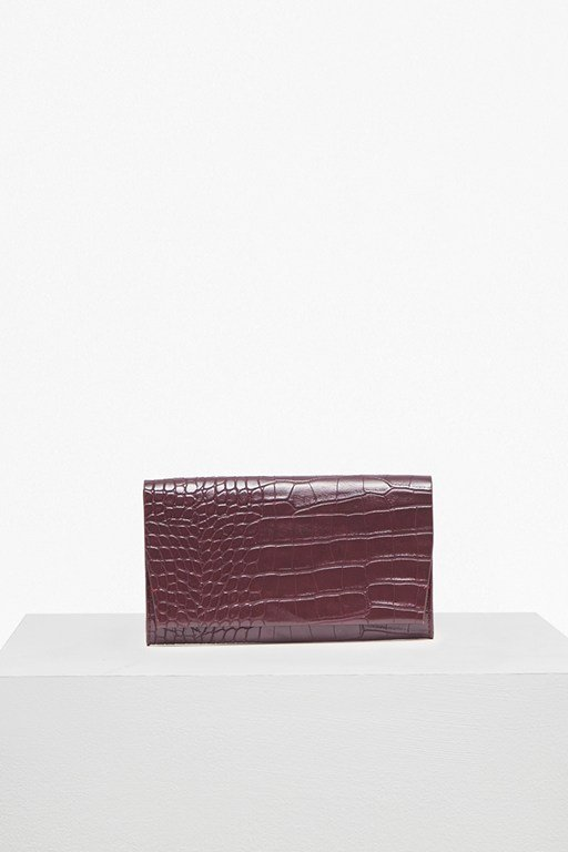 contemporary slide lock flap front wallet