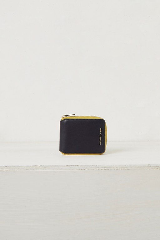polly recycled leather zip wallet