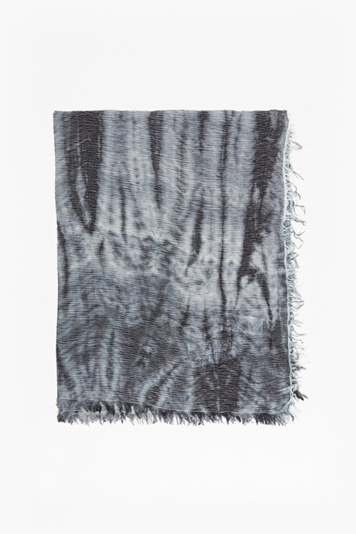 Complete the Look Monochrome Tie Dye Scarf